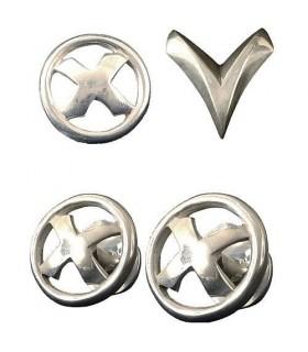 Set de Prop Réplicas chapadas en plata - X-Men