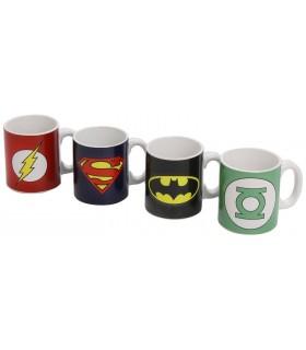 Set de tazas de café de superhéroes - DC Comics